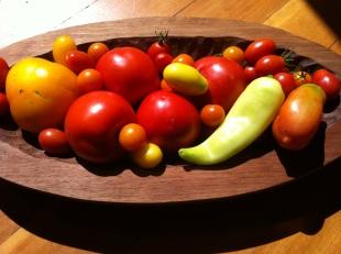 tomato treasures, plus a lone chili