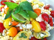 Raw Thai Style Corn Salad