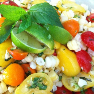 Raw Thai Style Corn Salad
