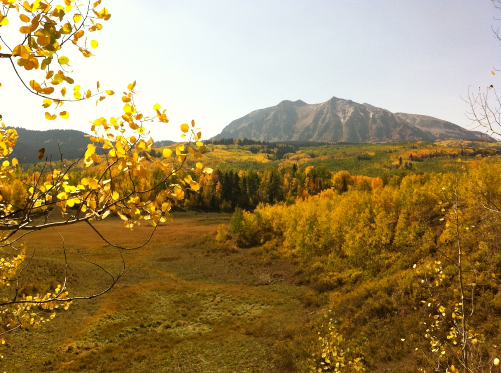 Mount Marcellina on a day of gold
