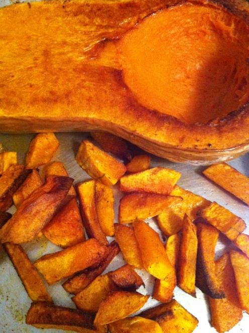 chili rubbed and roasted butternut squash