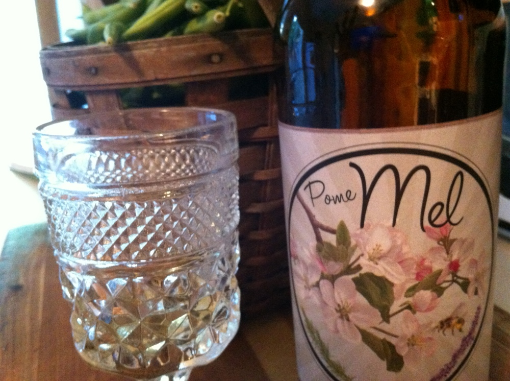 Colorado Cider Company's Pomme Mel - a honey apple cider with lavender and rosemary highlights!