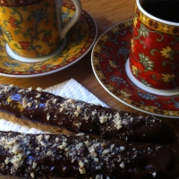 A Sunny October Day - and GF Chocolate Dipped Almond Biscotti