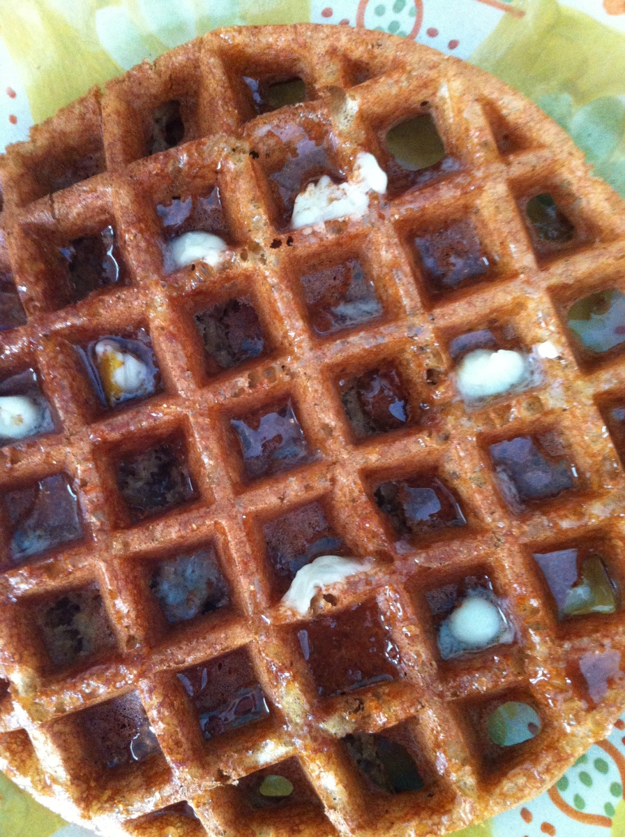 First Snow of the Season .... and Gingerbread Waffles