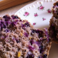 Buckwheat Elderberry Muffins with Lemon and Ginger ~ November Tea Time