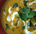 so close you can almost smell this spicy pumpkin dal