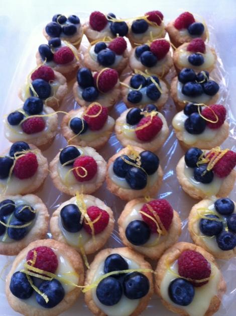 ....dozens of lemon curd tarts...