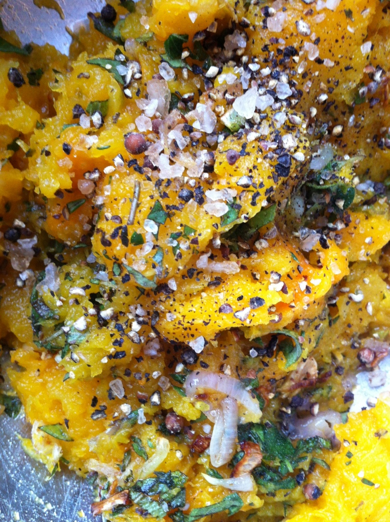 the butternut squash filling