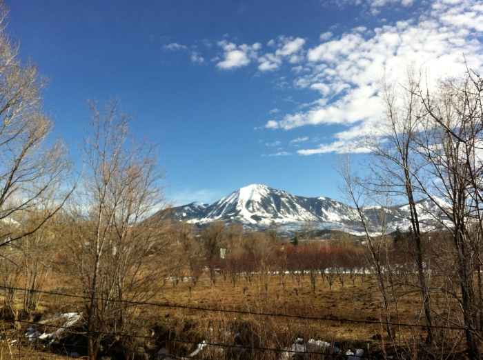 almost spring, Mt. Lamborn and an orchard off Black Bridge Road
