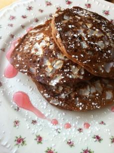 Quadruple Coconut Chocolate Pancakes