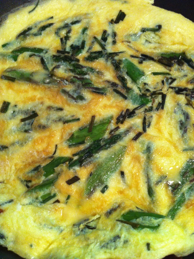 asparagus, chive and egg art