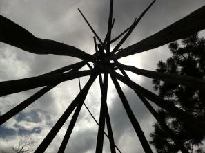 beneath the lodge poles of Loui's tipi