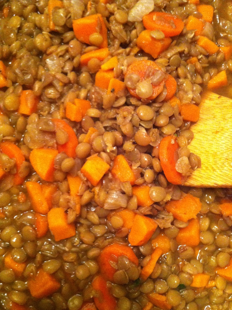 Lentil and Yam Soup