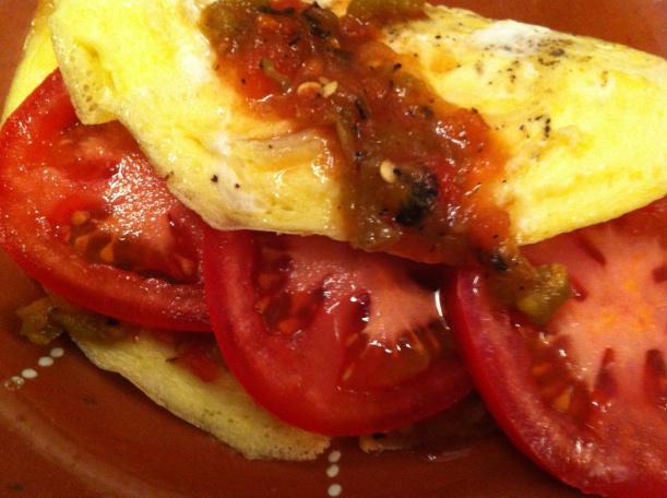Spanish omelette with a killer salsa received as a gift