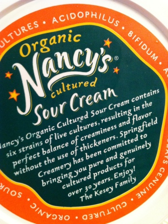 best ever? possibly --- live cultured sour cream