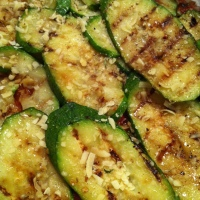 Grilled Zucchini Parmesan with Roast Tomato, Smoked Paprika and Basil Marinara