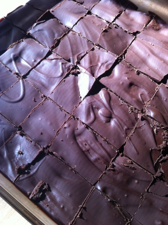 Famous sour cherry gluten free chocolate brownies