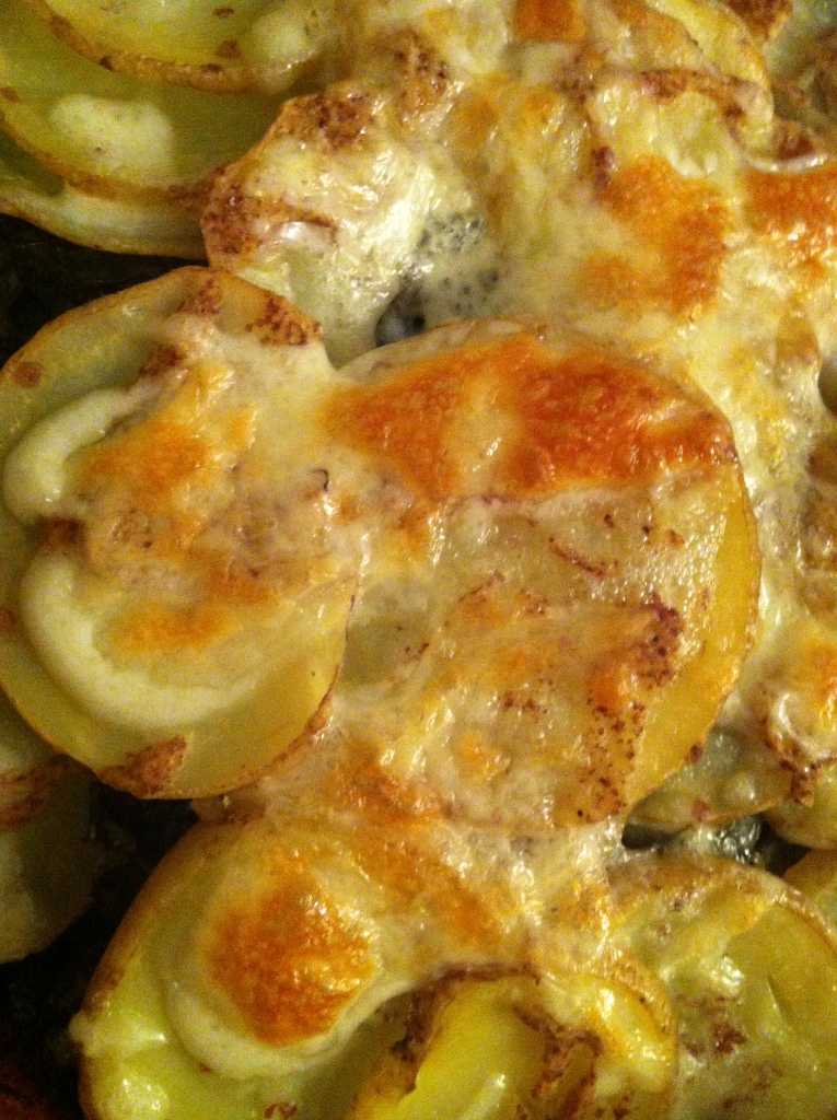 Scalloped Kale and Yukon Gold Potatoes