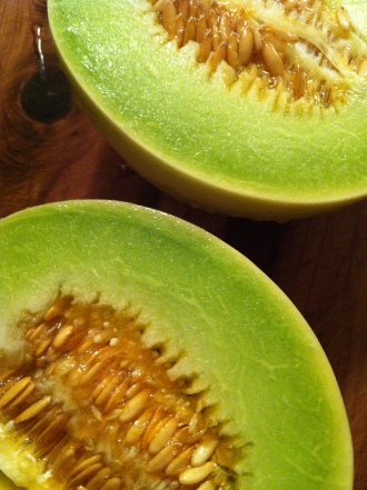 my very first honeydew melon - absolutely divine...