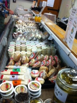 ahhhh - cheeses on display at The Cheese Factory