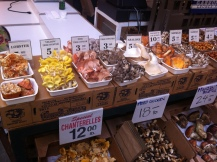exotic mushrooms in The Ferry Building, San Francisco
