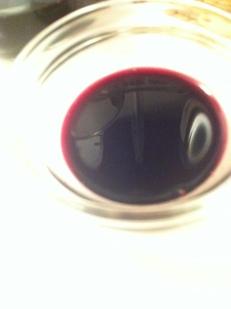 reduced, syrupy Cabernet wine