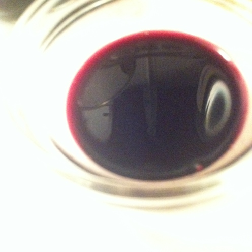reduced, syrupy Cabernet wine