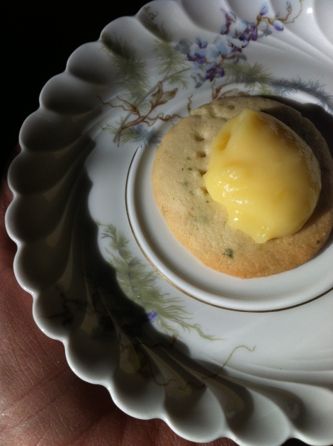 did I mention that you should serve these lemon verbena shortbread cookies with homemade lemon curd?