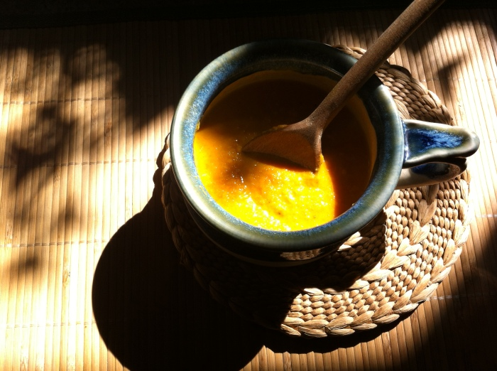 Cream of Roast Apple and Carrot Coconut Curry Soup