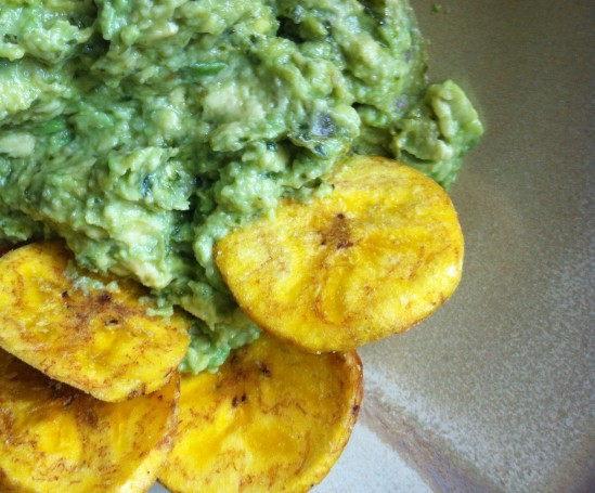 Inka Chips with Quechuan Style Avocado Dip