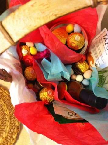Easter basket filled with treasures
