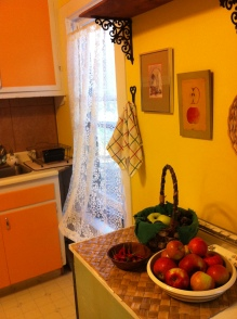 sweet breeze through the kitchen curtains