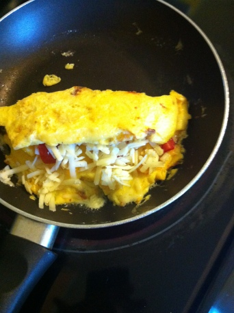 first omelette in my new kitchen
