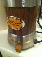 grain grinder ready for action