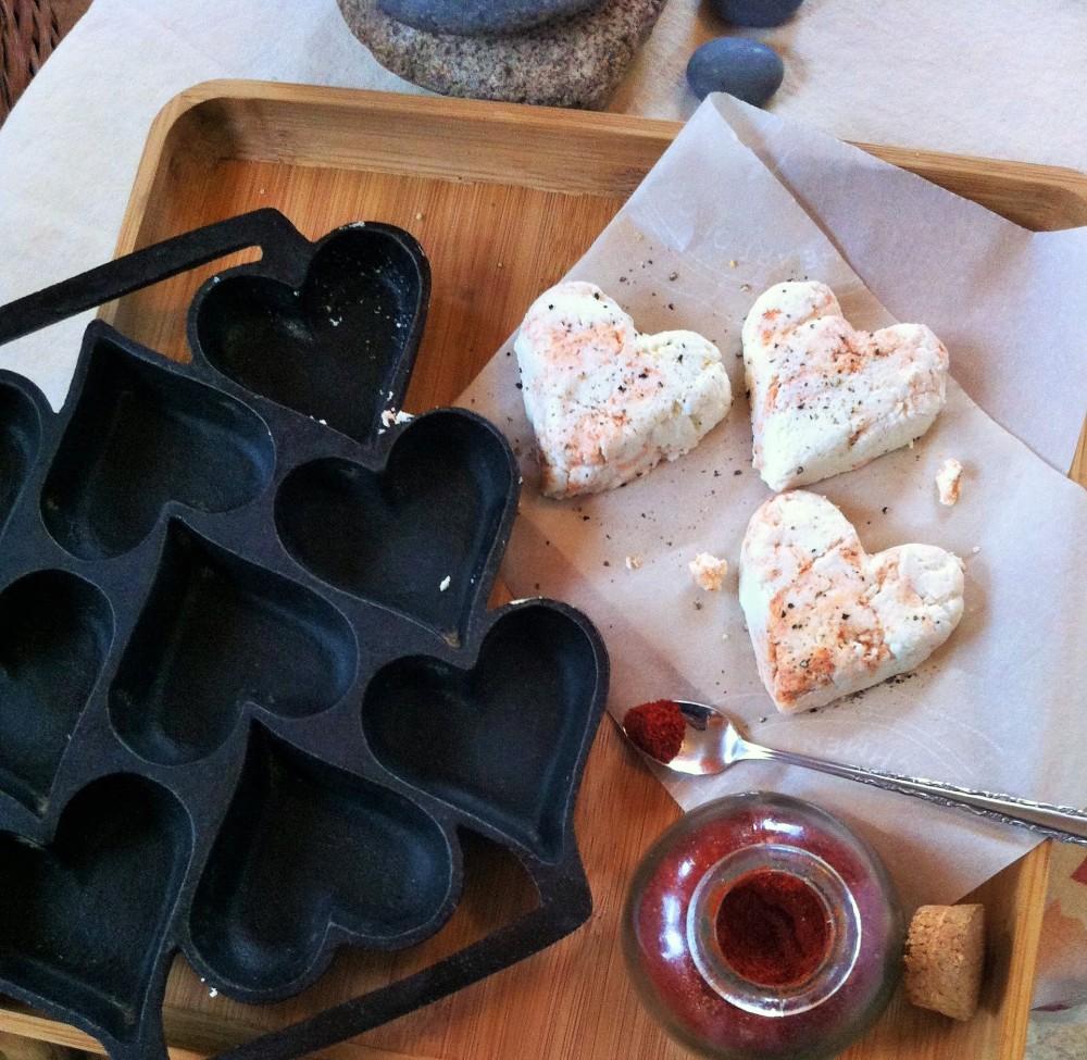 unmolding the cheeses