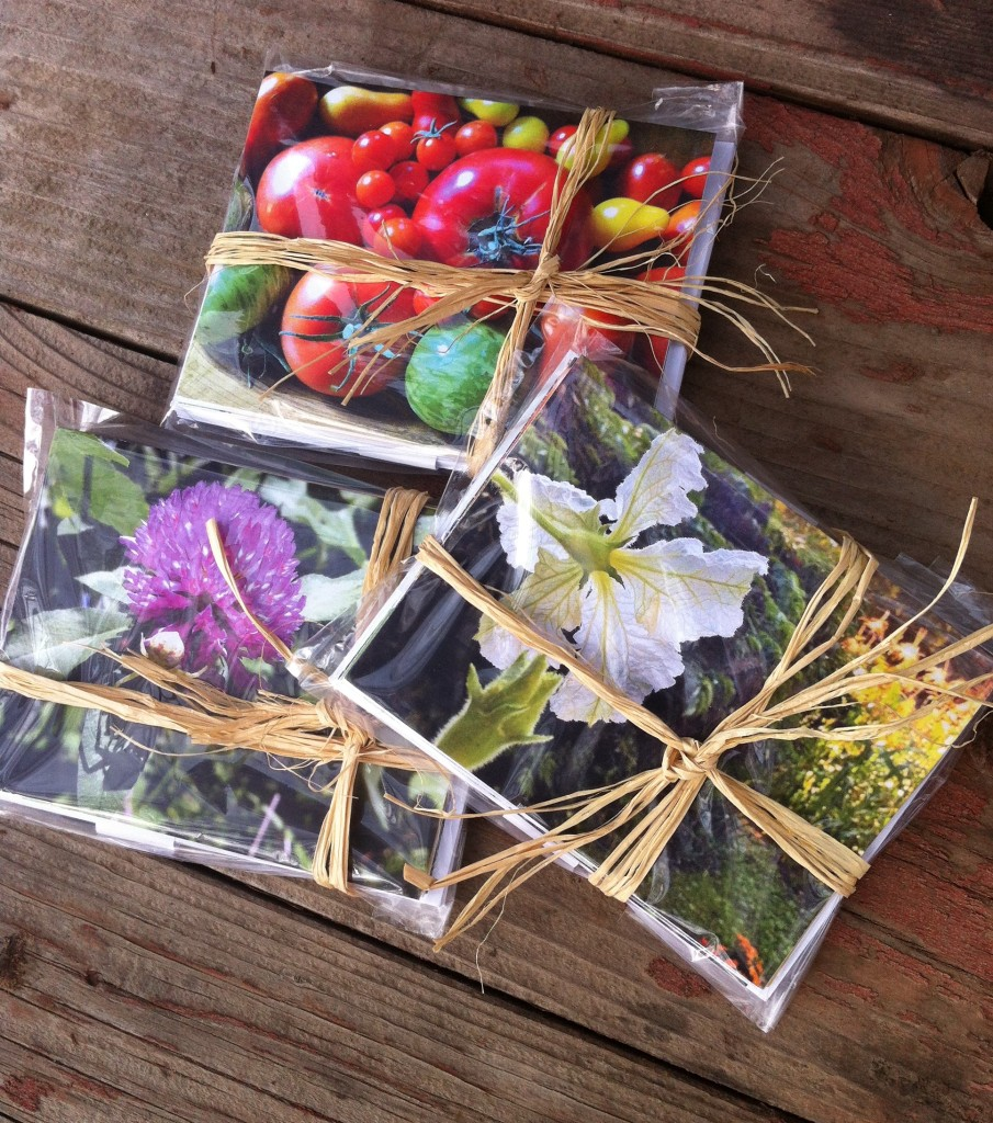"Pachamama's Beautiful Food ""In the Garden"" notecard sets"