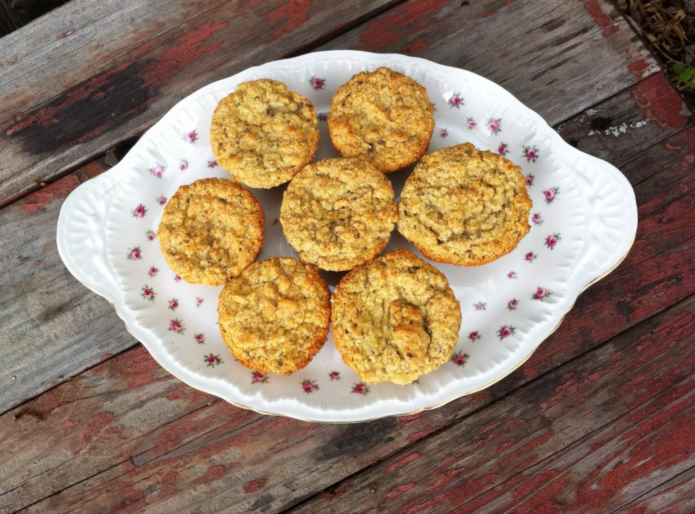 Banana Muffins with Lavender and Fresh Ginger