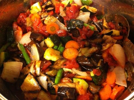 the lovely, vibrant blend of vegetables