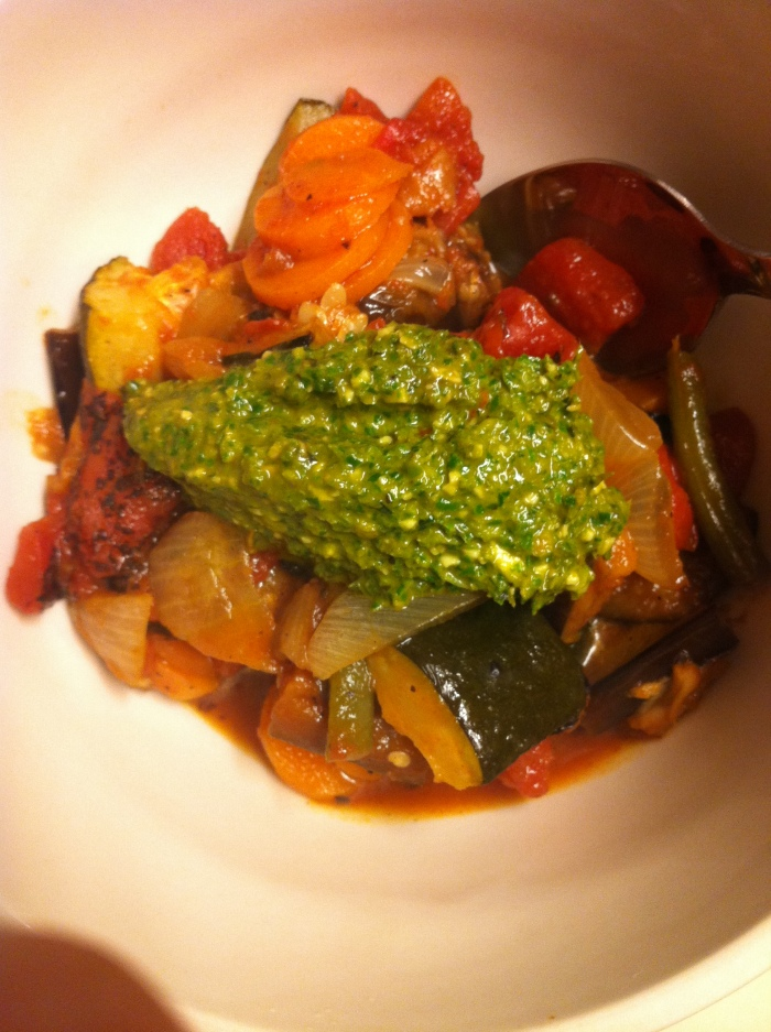 Grilled Vegetable Ratatouille with French Pistou