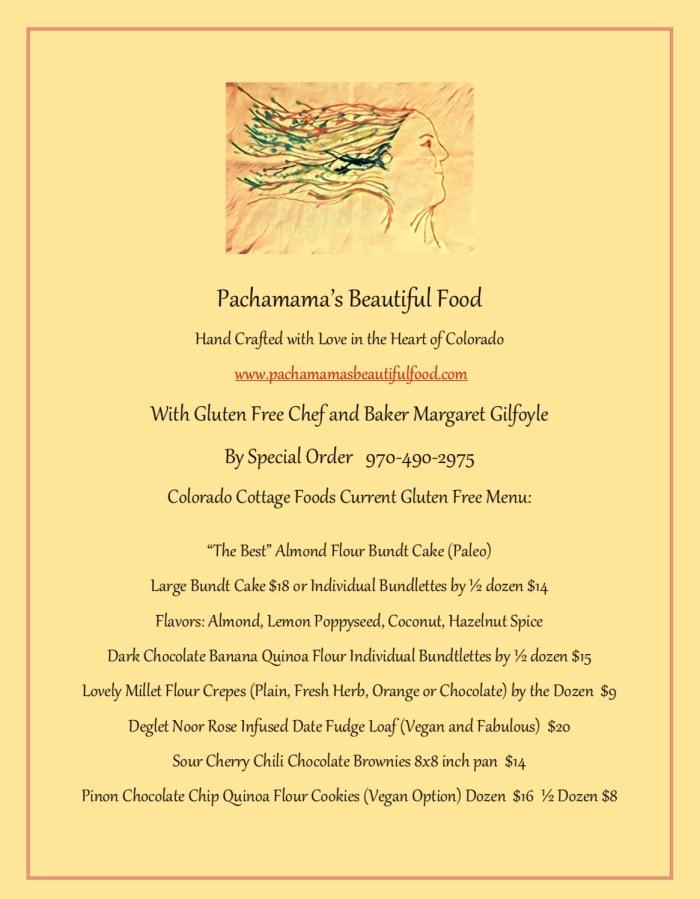 Pachamama August 2017 menu