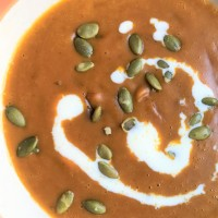 Mexican Mole' Pumpkin Coconut Soup