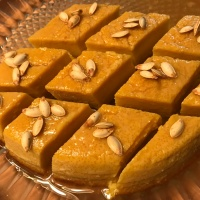 Day 4 : Eat Local Challenge : Pumpkin Flan with Honey Caramel and Salted Pumpkin Seeds