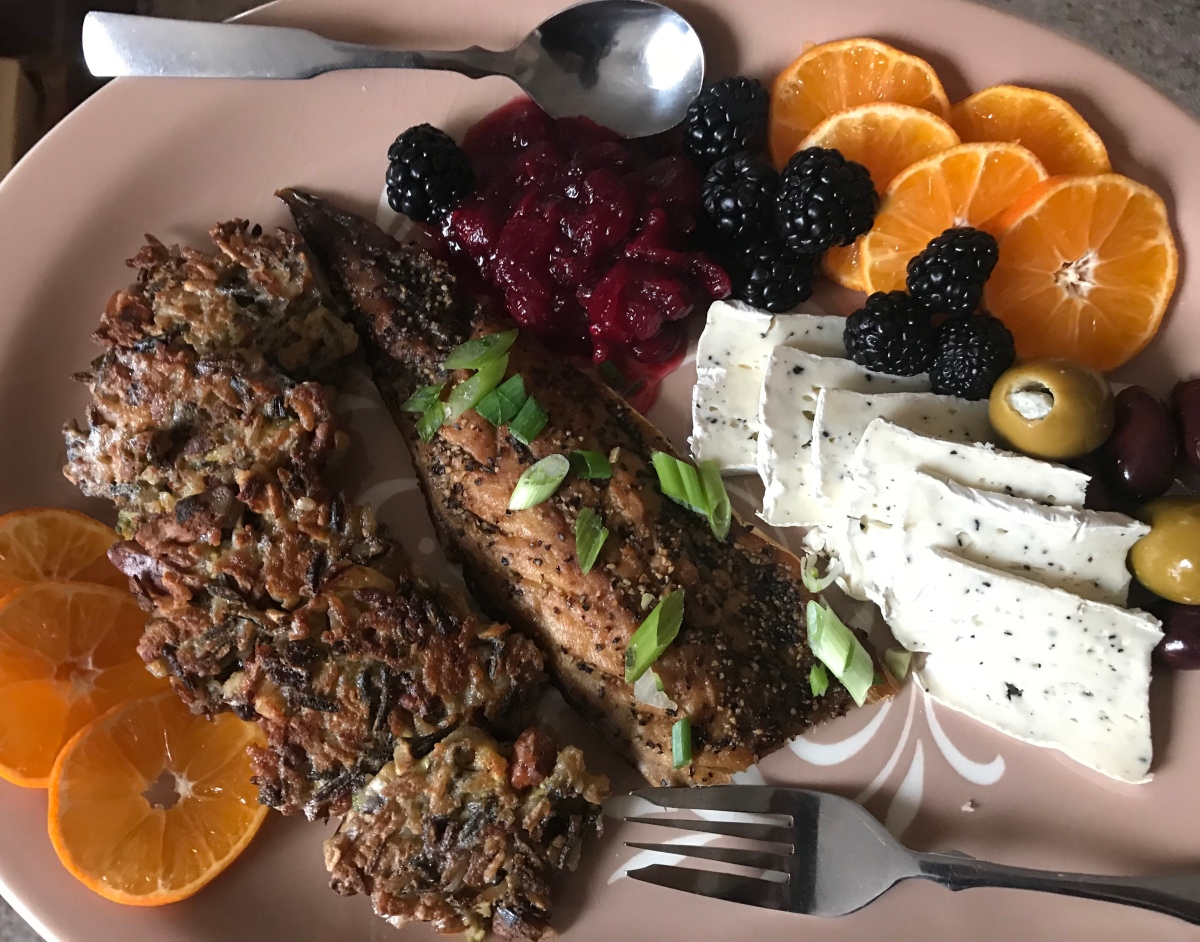 Gratitude, New Year's Sunrise, and a marvelous platter of leftovers