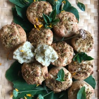 Lemon Basil Muffins with Ground Pistachios